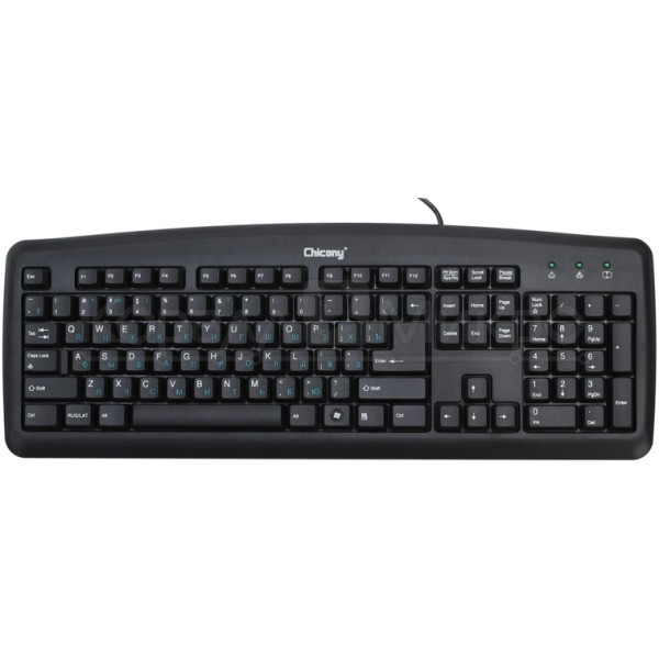 Chicony KU-0325 USB black 104 keys keyboard + RUS/LAT key
