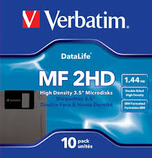 Дискета 3.5 1.44Mb Verbatim DS/HD 10 шт пластик Color (45215)